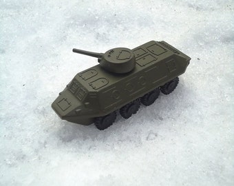 Soviet BTR Collectible military Vintage war toy Mens gift gift for father tank World War II Gift for him transporter BTR