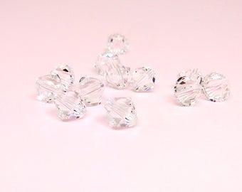 8mm Swarovski Xilion Bicone, 5328 Crystal Clear Bead, Bracelet Findings, Loose Beads, Swarovski Elements, Diy Jewelry,Jewelry Finding,YC0031