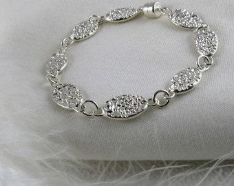 Bracelet en argent sterling/Sterling silver bracelet/Silver bracelet/Bracelet argent/Handcrafted silver bracelet/Bracelet argent fait main