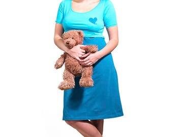 Blue Lactation nightgown
