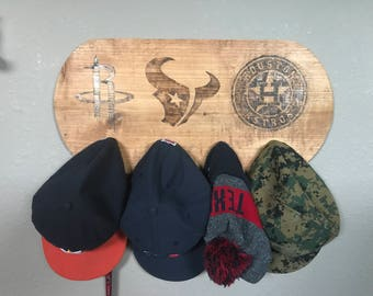 Custom Sports Team Logo Hat Rack