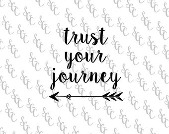 Reusable Stencil - Trust your Journey - Many Sizes to Choose from!