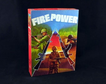 Firepower Bookshelf Game by Avalon Hill - 1980s Vintage - Military squad tactics strategy board game - in Excellent condition