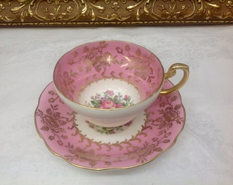 E B Foley teacup and saucer