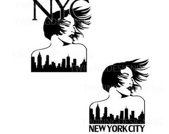 NYC Girl New York City Womans empowerment strong woman  SVG PNG dxf digital file