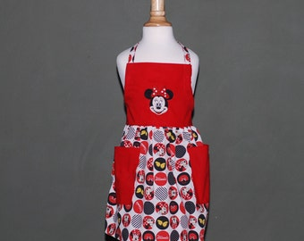 Child's Minnie Mouse apron