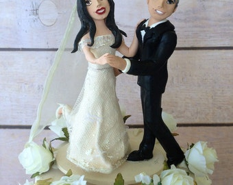 Clay Celebrity wedding: George and Amal customised figurines