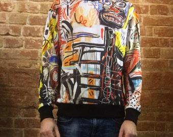 Philistines – Jean-Michel Basquiat sweatshirt, Full Print, womens, mens, childrens sizes are avalible