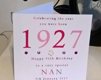 Female Year You Were Born Personalised Birthday Card 100th 95th 90th 85th 80th 75th 70th 65th 60th 50th 40th 30th 21st 18th 16th 13th