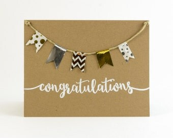 Rustic and Whimsical Embossed Congratulations Cards - Celebration/Event/Graduation Cards