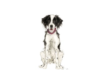 Custom Dog Illustration Portrait