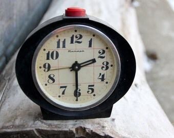 Home Décor alarm clock Mechanical clock Soviet alarm clock NOT WORKING Clock Yantar Clock table clock Retro Alarm Retro Clock collectible