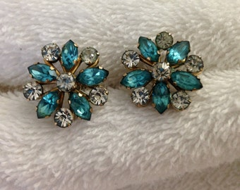 Van Dell rhinestone earrings.