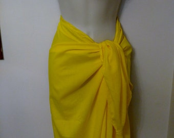 Sarong Beach Wrap in Yellow