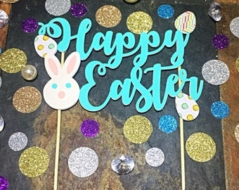 Happy Easter Cake Topper/ Easter Bunny Cake Topper/ Easter Decorations