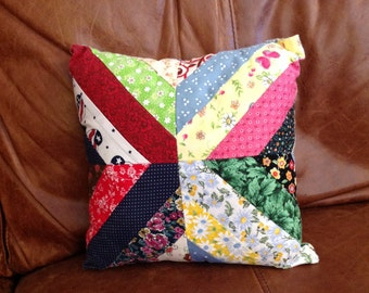 Small Vintage Decorative Cotton Quilted Pillow