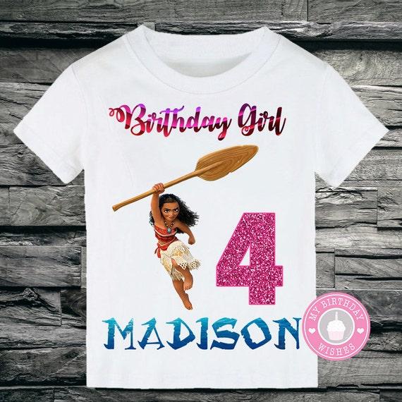 Disney Moana Personalized Tutu Set Birthday Shirts