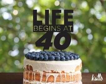 Customizable 40 Birthday cake topper, 40 Cake Topper, 40th Birthday Cake Topper, Forty Cake Topper, Happy 40th Birthday, 40th Birthday Party