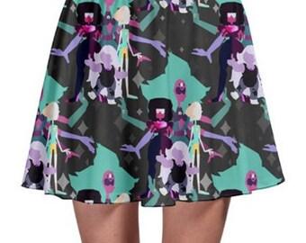 Alexandrite Skirt - Skater Skirt Steven Universe Skirt Cosplay Skirt Plus Size Skirt Fusion Skirt Garnet Amethyst Pear Skirt