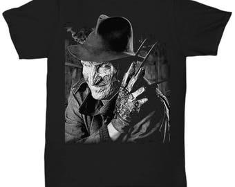Nightmare on Elm Street Freddy Krueger Horror Movie  shirt Tee T-shirt  S - 5XL  Black 2