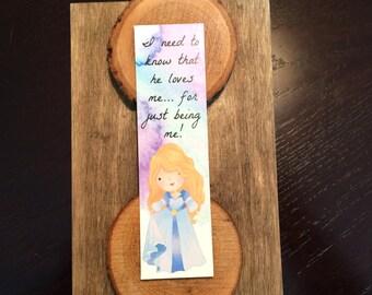 Princess Collection - Bookmark - Watercolor - Swan - Love
