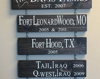 Home is where the Army sends us sign (Navy, Marines, Coast Guard, Air Force)  - Wood sign - sign - military - home decor - decor