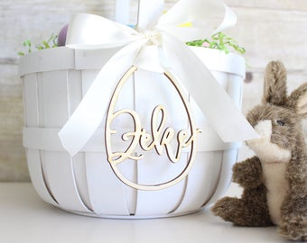 Personalized Easter Basket Egg Tag | Easter Basket Name Charm