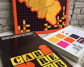 Vintage Belgium Carrefour de l'Europe Board Game