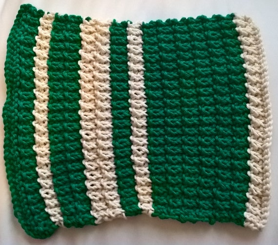 Knitted Striped Placemats (Sold as a Set of 2)