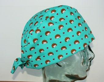 Hedgehog Scrub Hat Etsy