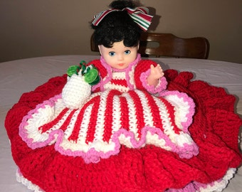 Crocheted Peppermint Candy Doll