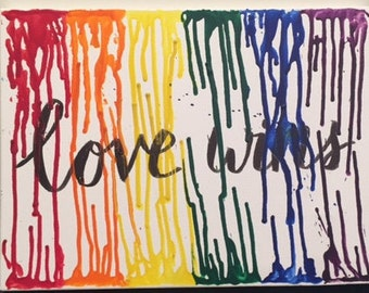 Calligraphy Quote, Melted Crayon