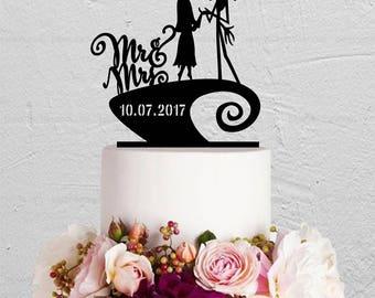 Wonderful Fall Wedding Cakes Thin Wedding Cake Serving Set Square Wedding Cake Recipe Wedding Cake Pictures Youthful Disney Wedding Cake Toppers RedAverage Wedding Cake Cost Jack And Sally Cake | Etsy