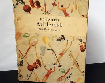 Book Fanny Blankers-Koen by Jan Blankers 1943s Olympic Games Athletics 98 Drawings Spouse Fanny Olympic Champion 1938 Boulevard Vintage