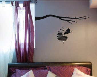 Large Butterfly Tree Wall Decal Sticker, For Home Decor, Nursery, Bedroom Christmas Gift
