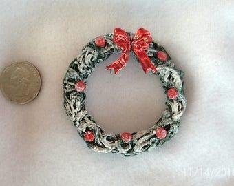 Christmas Wreath Ornament;Ornament Gift;Christmas Fairy Garden Wreath Ornament;Secret Santa;Office Gift