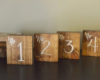 Rustic Table Numbers | Embossed Table numbers | Wedding decor