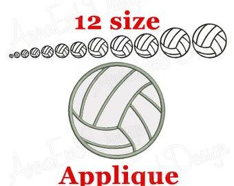 Volleyball Applique Design. Volleyball applique embroidery design. Machine Embroidery designs. Sport Applique Design. Mini Volleyball.