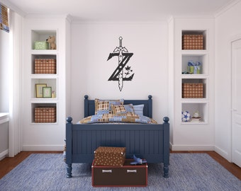 The Legend of Zelda Breath of the Wild decal - room in Zelda style (unofficial) - Zelda logo - Removable Wall decal for Nintendo gamer -GS06