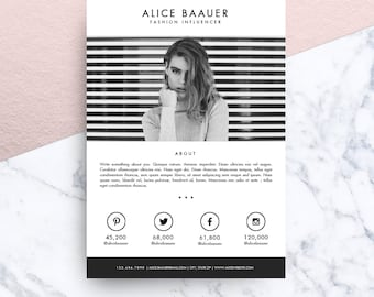 Blog Media / Press Kit Template for MS Word | Model 01 : Baauer (2 pages)