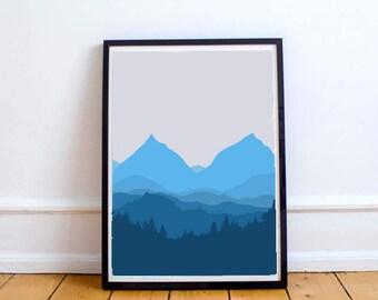 Mountain View, Art, Printable
