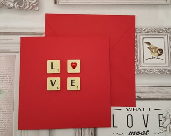 Valentines card, Love card, Card for boyfriend, Card for him, Card for her, Card for husband, I love you card, Card for girlfriend, Love