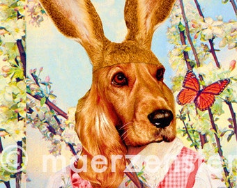 """Postcard """"Cherry blossoms"""" (23) Easter, Easter greetings, Easter Bunny, butterfly, Happy Easter"""