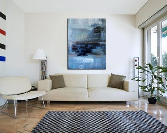 Original Painting On Canvas Living Room Wall Art Acrylic Minimal