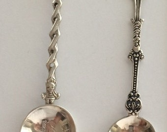 Set of 2 Dutch windmill sterling spoons 1915