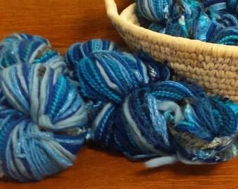 Yarn Skein, Knitting Yarn, Multi- color yarn, Hand-dyed yarn, Merino, Mixed yarn, Twisted yarn, Fiber, Novelty yarn, Blue Yarn, 450-475+yds