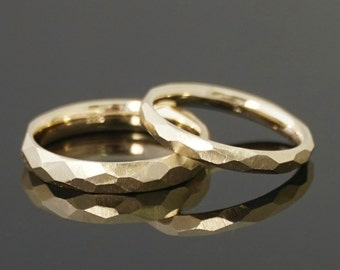 FACET 8 k or 14 k gold rings