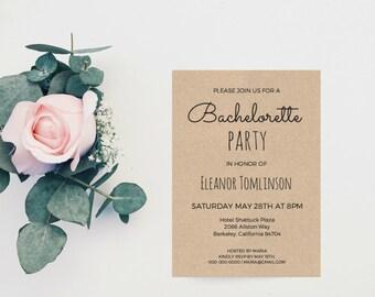 Bachelorette Party Printable, Bachelorette Party Invitation, Rustic Bachelorette Invite, Bachelorette Invitation, Bachelorette Party, PDF