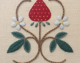 "Crewelwork embroidery kit ""A Strawberry Fair"""