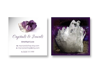 BUSINESS CARD DESIGN - Pre-Made Design - Customized with Your Details! - Crystal & Jewel Card - BCD05